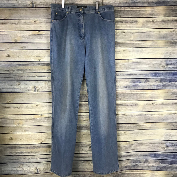 Escada Womens Pants Denim Jeans Crown back pocket Size 40- KK12