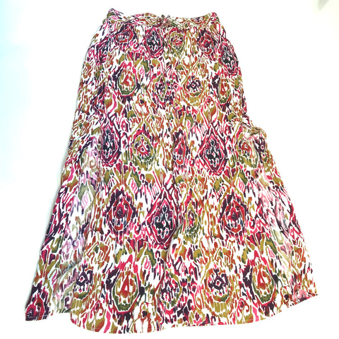 George Womens Multi-Color Maxi Skirt Boho Size Med - AL27