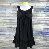 C Lucio Inc. Womens Black Dress Sleeveless with Bow design Size Large  /ZZ05