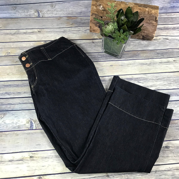 X Manager Womens Cropped pants Black Dark wash Size 31- SS16
