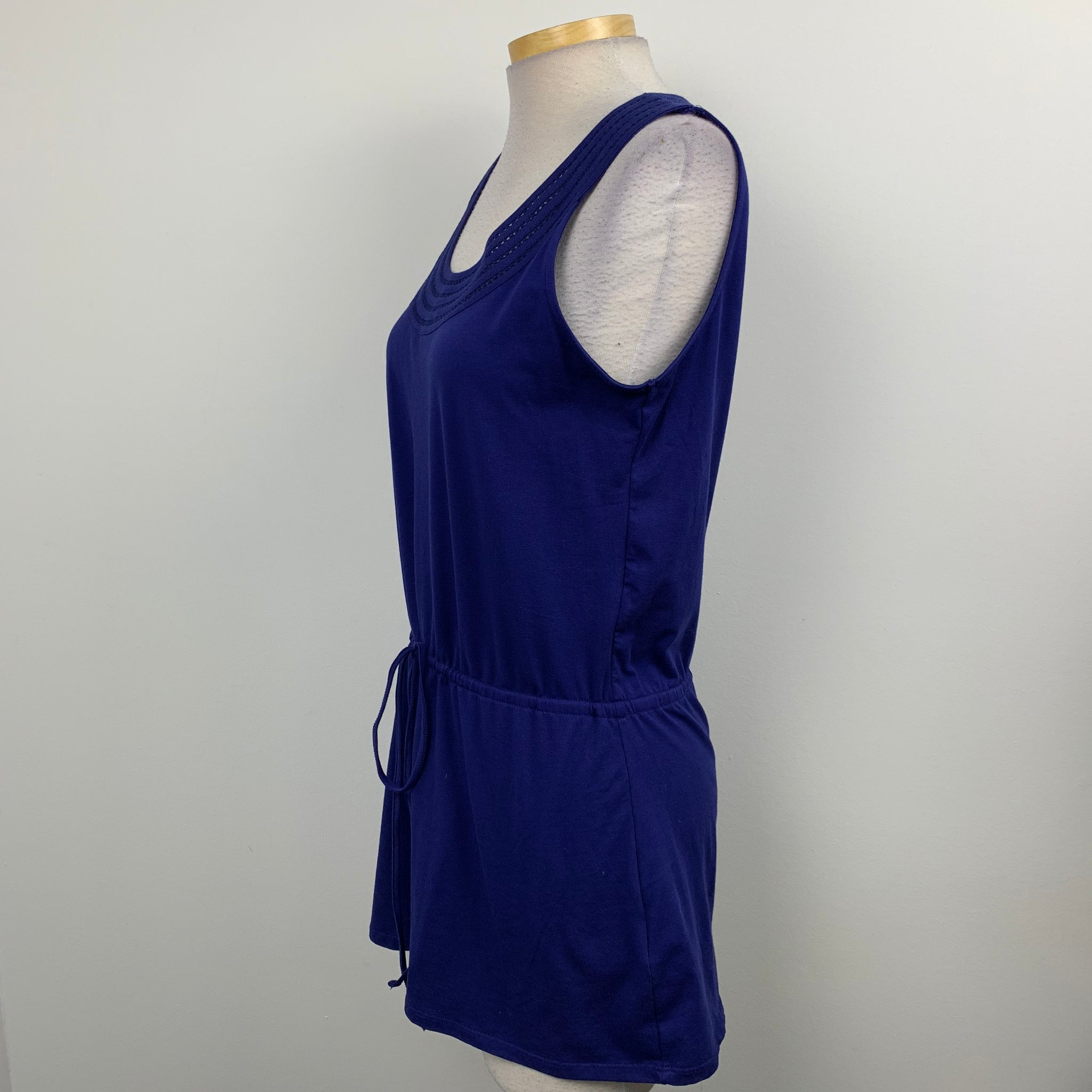 Nicole Miller Original Womens Tunic Dress Sleeveless Blue  Size Large-AR14