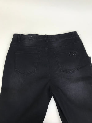 DC Jeans Womens Black Pants Slightly Curvy With black Studds Size 18-AP16