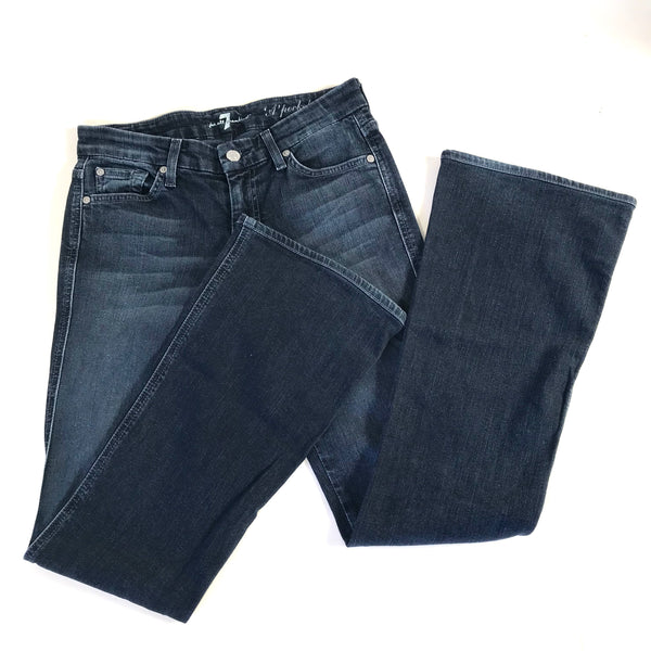 7 for All Mankind Womens Blue Jeans A Pocket Flare  W 28/ Inseam 30 -AI20