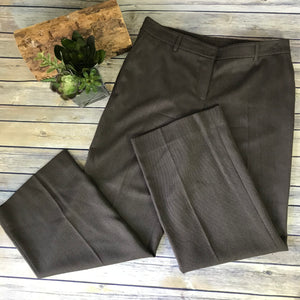 Akris Punto Womens Career wear Dress Pants Dark brown 100% Wool Size 12 (hemmed)