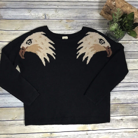 Yumi Knitwear Eagle print think sweater Size 2/4 or small - AM01