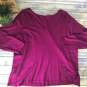 Addition Elle Womens Plus Size Blouse Pink Long Sleeve Size 4XL - AD24