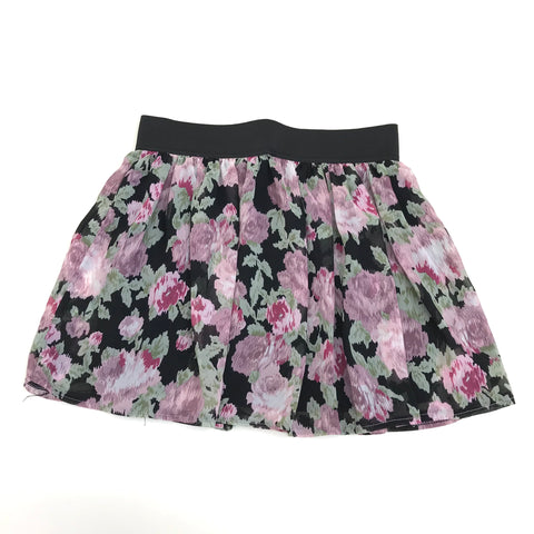 TEMT Womens Skirt Above the knee Floral Black & Pink Size 10/ M- AP08