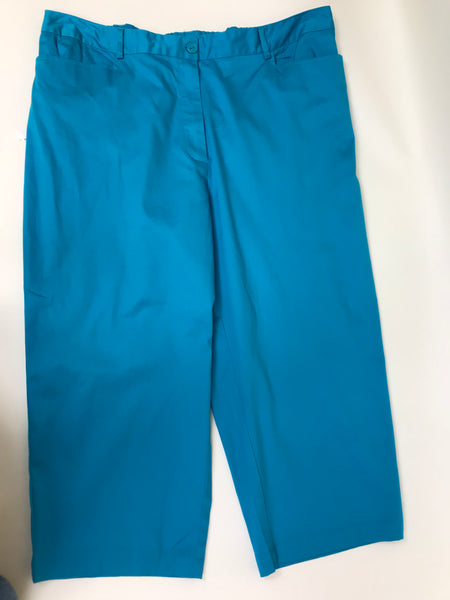 3 Pcs Womens Outfit NWT Brown top Blue capris and bracelets Size XL -AP31