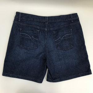 DKNY jeans Womens Denim Shorts Medium Wash Casual Walking Size 14- AP13