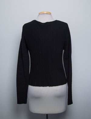 NWT Ana Scott Womens Open Cardigan Long Sleeves Black Size Large- AN04