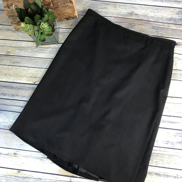 Armani Collezioni Womens Knee Length Skirt Charcoal Grey Size 12 Large- II63