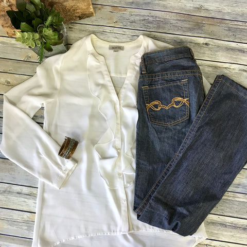 3 Pcs Womens Casual Outfit Lot Buffalo Jeans 25, Smartset Button Down Size Small AC19