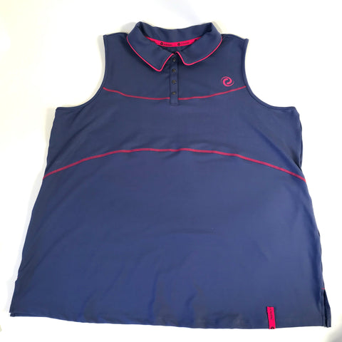 Activezone Sports Plus Size Womens Sleeveless Athletic Top Purple 2XL- AH30