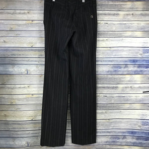 Gucci Womens Black Pants 97% Lane Wool Size 38 (Small) Black and white stripes