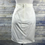 Gianfranco Ferre Cream Womens Pencil Skirt Size 42 fully lined - KK02