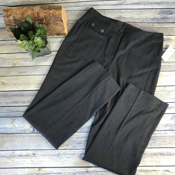 Abbie Mags Womens Dress Pants Charcoal grey Slim cut size 10 - AE25