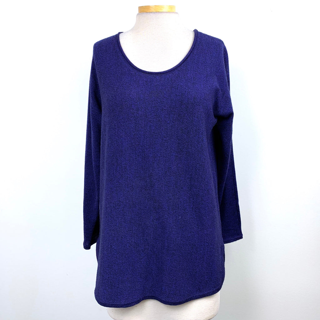 Max Studio Womens 100% Extrafine Merino Wool Sweater Blue Size Large -AR04