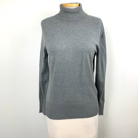Thomas RABE fitted Womens Turtle Neck Sweater Grey Size Medium-AR08