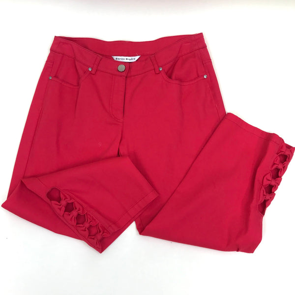 Bianca Nygard NWT Womens Capri Strawberry Red with bows Size Small/ 6 - AO39