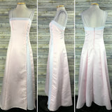 Rebecca Womens Formal Dress Prom Gown Pink and white Size Small WW11