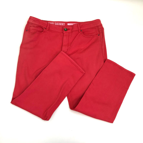 DKNY jeans Womens Pants Soho Skinny Coral has discolouration Size 16- AP12