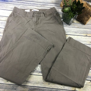 Gap Favourite Chino Womens Pants Khaki Size 6 Straight Cut TT22