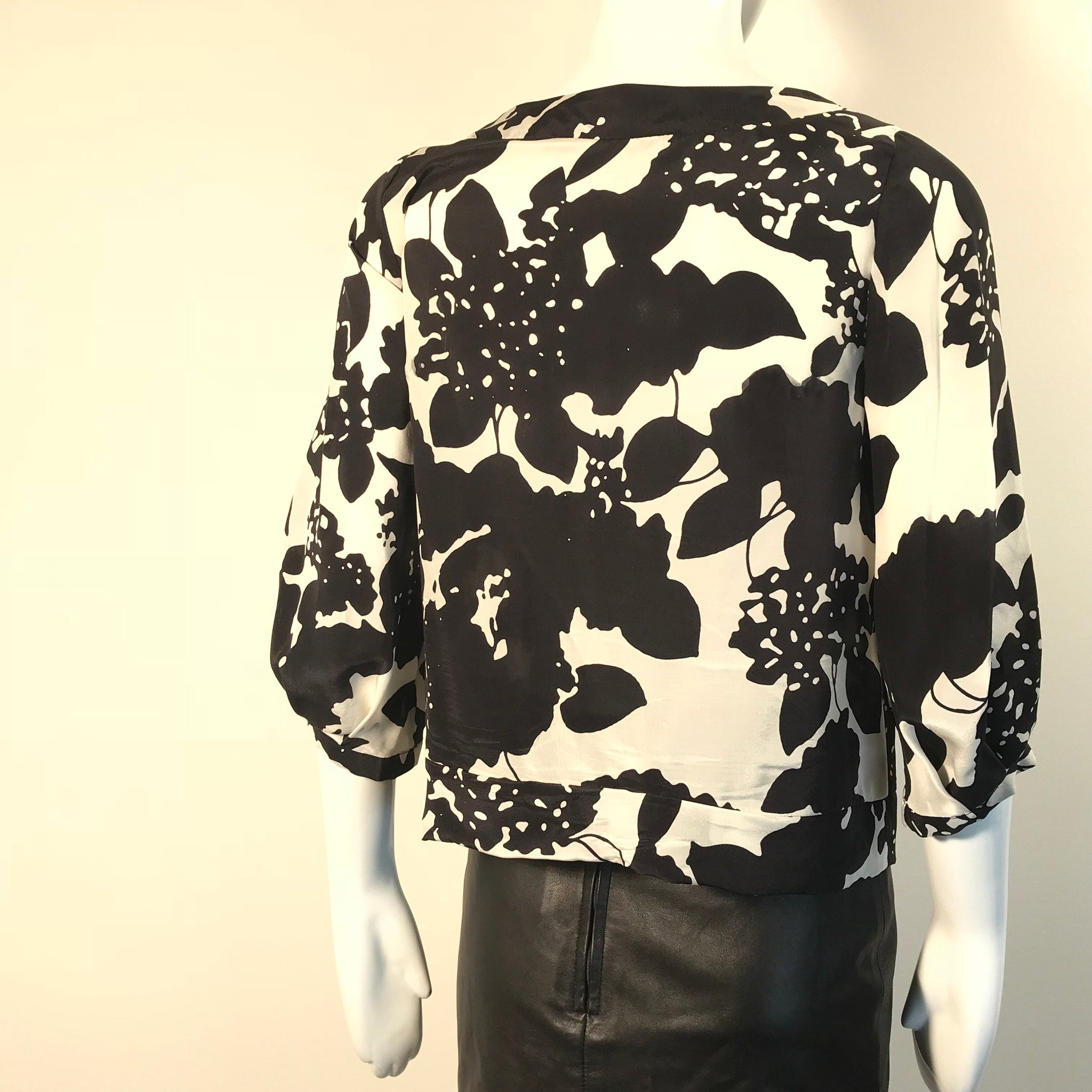 3.1 Phillip Lim Womens Top Black and white Pattern  Size 2 - RC16