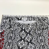 Forever 21 Womens Pants Aztec Printe with Red Floral Embroidery Size 28- AP03