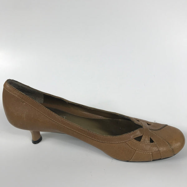 Nine West Womens Shoes Brown Heels - EE13