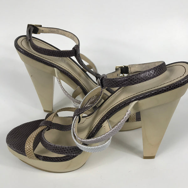 Nine West Womens Sandals White Heels Size 7.5 - EE20