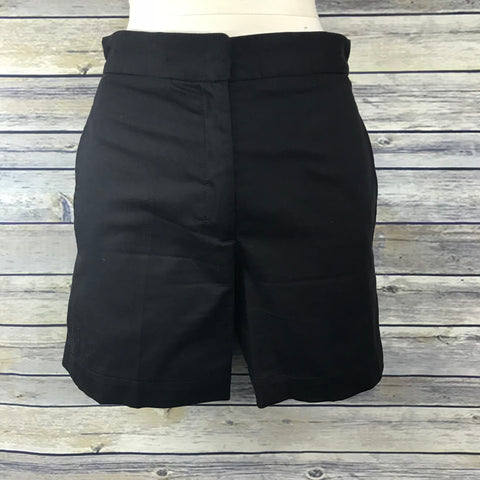 Prada Womens High Waisted Shorts Black Size Small Retail 600 - II12