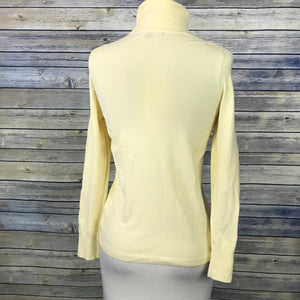 Gap Turtle Neck Long Sleeve top Knit Yellow Size Small Cotton blend LL20