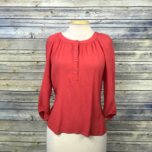 Banana Republic Womens top Coral 3/4 Sleeve blouse Size Small- MM30