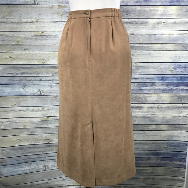 Vanity Fair Petite Womens Clong Brown Skirt  Size 14P- NN09