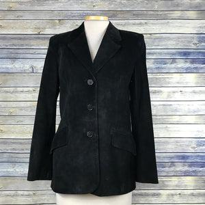 Danier Leather Canada Womens Black Jacket Size XS Suede - OO15