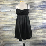 Betsy Johnson Womens Black Silk Cocktail Dress With bow Size 4 PP16