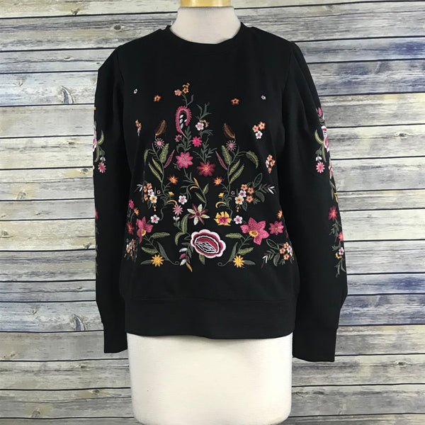 Drew Womens Clothing Pull over Sweater Floral Embroidery Size Medium NEW PP17