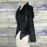BLANKNYC Womens Velvet Jacket Asymetrical Zip up NWT Retail $148 SIze SM- PP19
