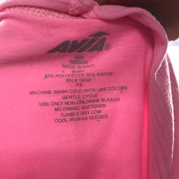 Avia Womens Athletic Wear Pink Long Sleeve top with hood Size medium  PP29