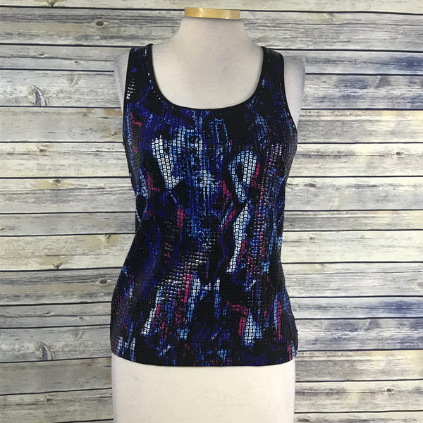 Peter Nygard Sleeveless Womens Top Sequined graphic Size Small PP25