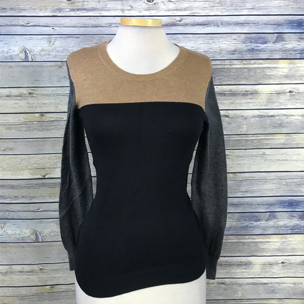 Old Navy Womens Long SLeeve Sweater Black Grey Brown Size XS QQ16