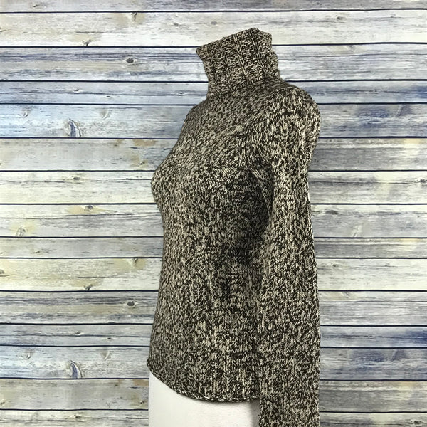 GAP  Womens Knit Sweater Size Small Brown and Beige Turtle Neck RR21