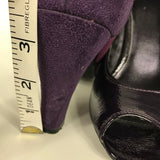 Jessica Womens Shoes Purple Heels open toe Size 7 - DD17
