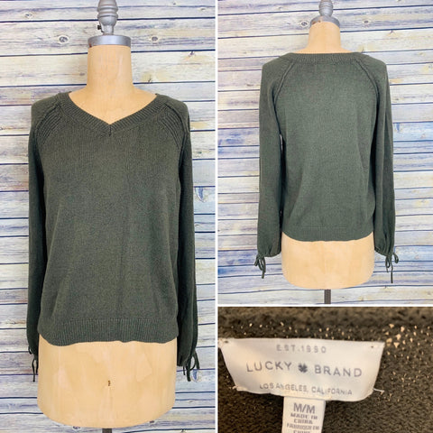 Lucky Brand Medium Green Sweater knit