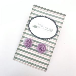 Wisteria Rose Stud Earrings