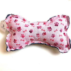 Pink Dog Bone Squeaky Toy