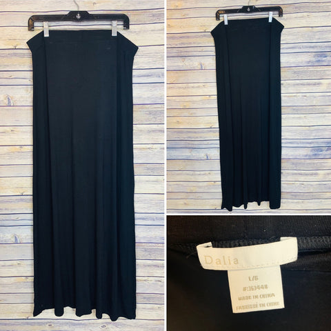 Large black maxi dress