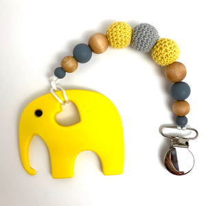 Yellow Elephant  teething toy