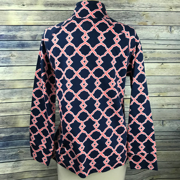 Mudpie Printed top NWT long sleeve pullover Women's top Size Small- HH17