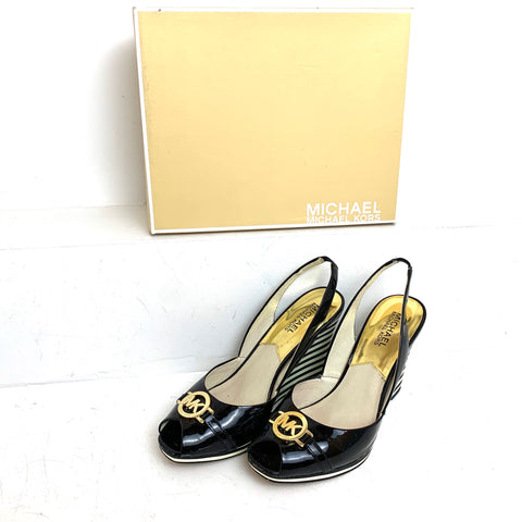 Michael by Michael Kors black and white shoes size 8